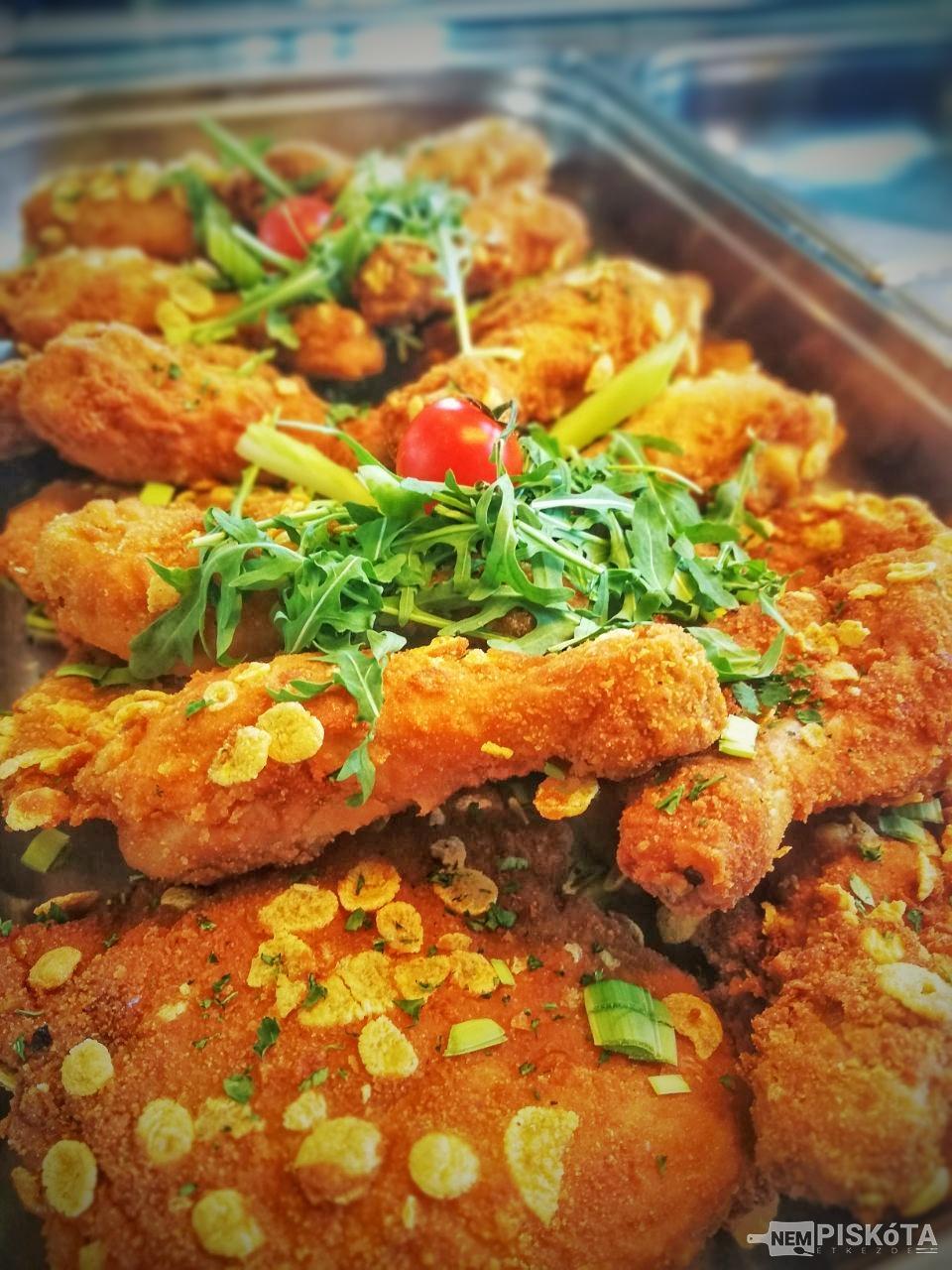NemPiskóta Étkezde: Cornflakes bundás csirkecomb